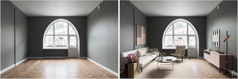 Unrealerin virtuaalistailauksen ennen ja jälkeen -kuvat